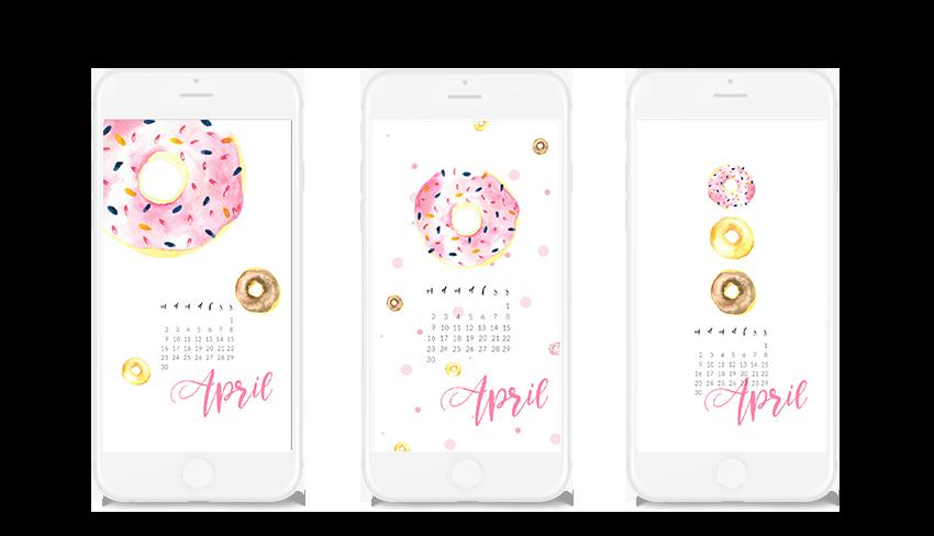 Gratis Wallpaper zum Runterladen mit Donuts